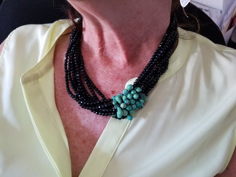 Swarovski and Turquoise Necklace