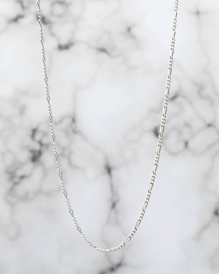 1.8MM Sterling Silver Figaro Chain For Men and Women