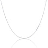 925 Sterling Silver 1MM Box Chain - Rhodium Plated - Lobster Claw Size 16-36 inch