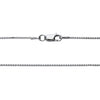 925 Sterling Silver 1.5 MM Box Chain Italian - Rhodium Plated - Lobster Claw 16 - 36 Inch