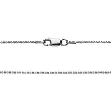 Load image into Gallery viewer, 925 Sterling Silver 1MM Box Chain - Rhodium Plated - Lobster Claw Size 16-36 inch
