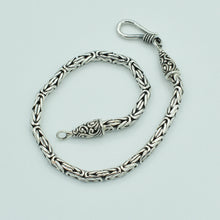 "Load image into Gallery viewer, Sterling Silver Handmade Byzantine Bali Chain - 7"" 2.5mm"