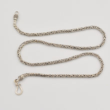 "Load image into Gallery viewer, Byzantine Bali Sterling Silver Handmade Chain -  30"" 2.8mm"