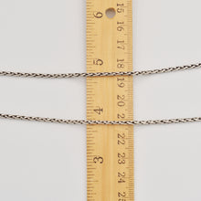 "Load image into Gallery viewer, Sterling Silver Bali Rice Chain - 18"" 2mm"