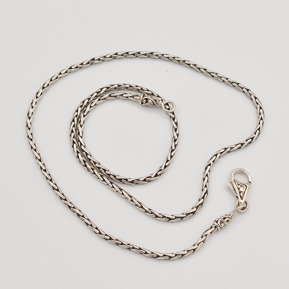 "Sterling Silver Bali Rice Chain - 18"" 2mm"