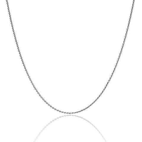 925 Sterling Silver Rope Chain 1.5MM-3.5MM 16-36 Inch