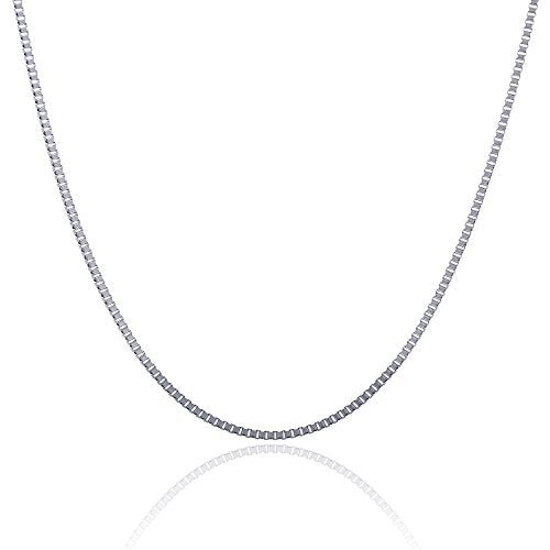 "316L Stainless Steel 2.5 MM Box Chain For Women And Girls And Boys 16"" - 36"""