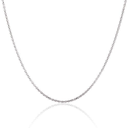 925 Sterling Silver Rope Chain 1.5MM 16-36 Inch