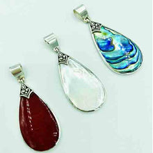 Load image into Gallery viewer, Mother of Pearl and Sterling Silver Pendant