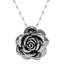 Load image into Gallery viewer, Designer Stainless Steel Rose Pendant for Women and Girls - Large - Medium or Small