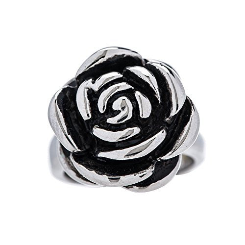 Designer Stainless Steel Rose Ring for Women and Girls - Sizes 5 thorugh 10