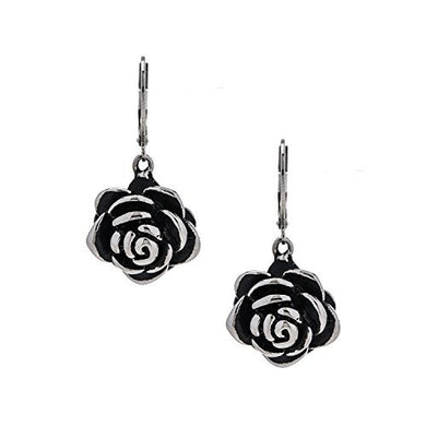 Designer Stainless Steel Rose Earrings, pierced with a Euro clasp. Will not tarnish.
