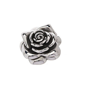 "Medium stainless steel rose pendant. About 11/4""long. Will not tarnish or dent."