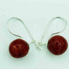 Sterling Silver and Red Coral Earrings