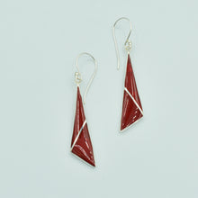 Load image into Gallery viewer, Abalone or Red Coral or Mother of Pearl Sterling Silver Earrings
