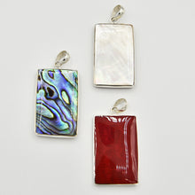 Load image into Gallery viewer, Mother of Pearl, Abalone and Coral Double Sided Pendant