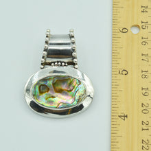 Load image into Gallery viewer, Sterling Silver Abalone Pendant