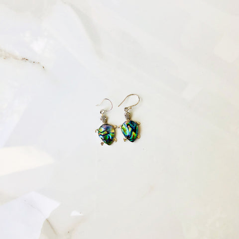 Abalone Earrings set in Sterling Silver