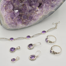 Load image into Gallery viewer, Amethyst Sterling Silver Earrings