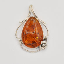 Load image into Gallery viewer, Sterling Silver Amber Pendant