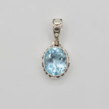 Load image into Gallery viewer, Blue Topaz Sterling Silver Pendant
