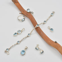 Load image into Gallery viewer, Blue Topaz Sterling Silver Earrings