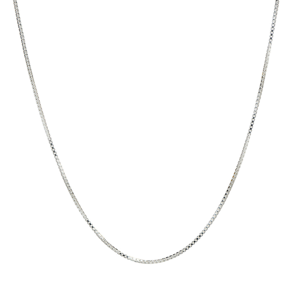 .8MM Sterling Silver Box Chain with Lobster Claw Clasp