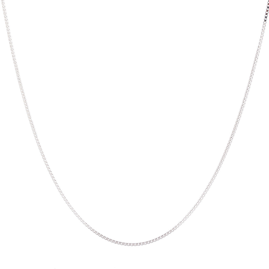 1.5MM Sterling Silver Box Chain with Lobster Claw Clasp
