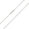1MM MAGIC Sterling Silver 8 Sided Snake Chain with Lobster Claw Clasp
