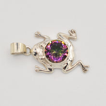 Load image into Gallery viewer, Sterling Silver Mystic Topaz Frog Pendant