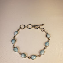 Load image into Gallery viewer, Laramar Teardrop  Stone Silver Bracelet