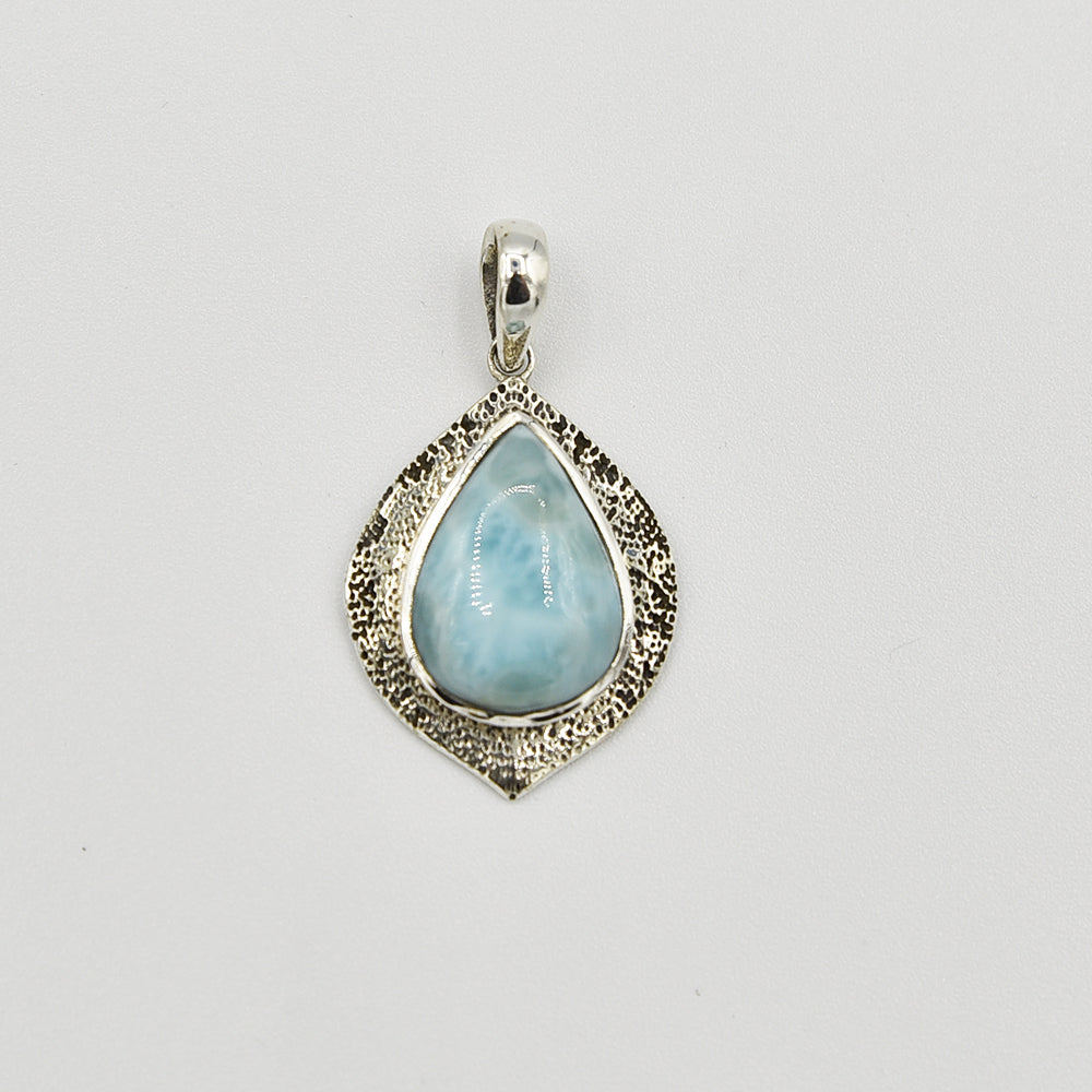 Larimar and Sterling Silver Pendant