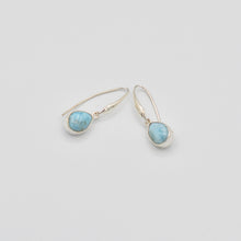 Load image into Gallery viewer, Larimar Sterling Silver Earrings