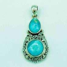 Load image into Gallery viewer, Larimar and Sterling Silver Pendant