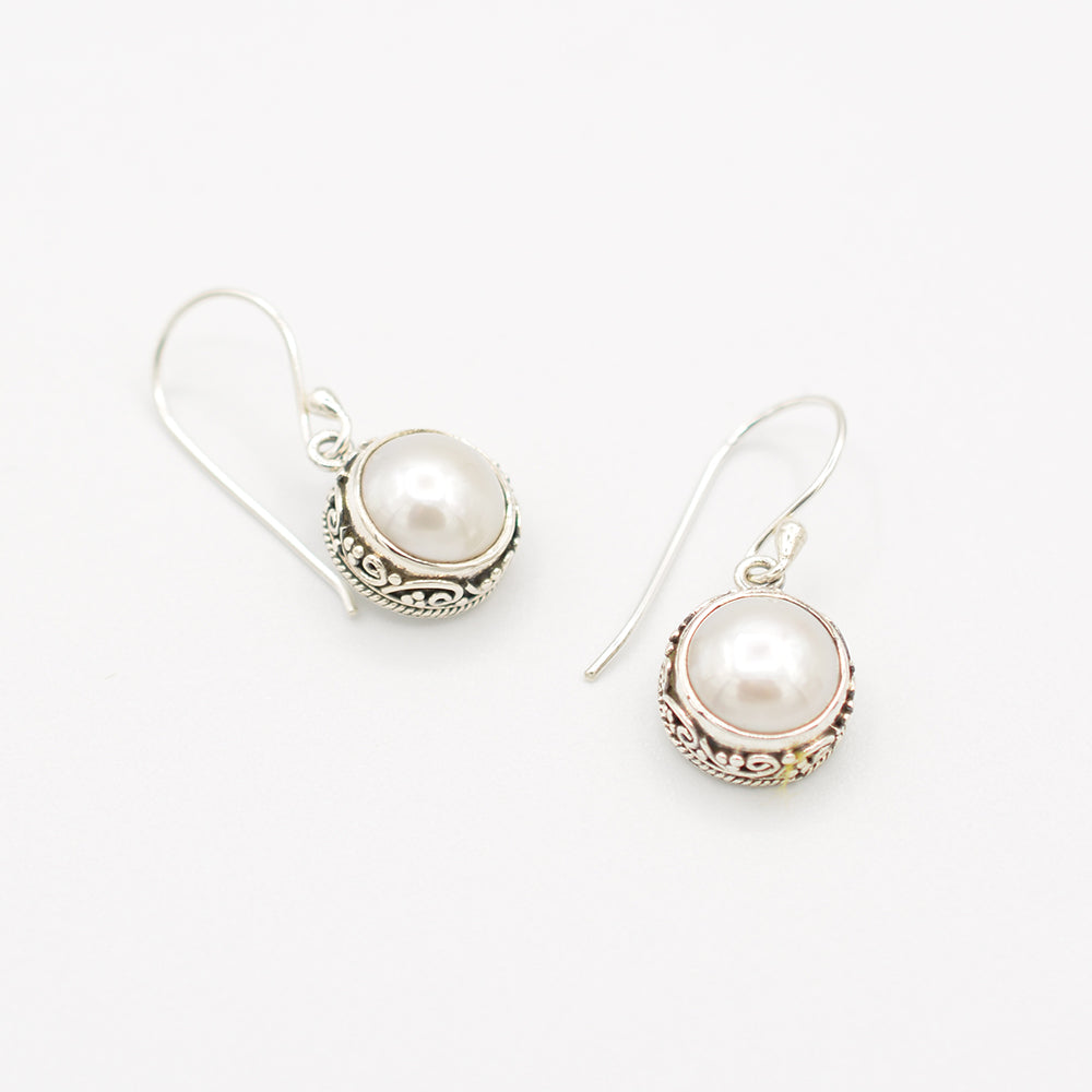 Sterling Silver Fresh Water Earrings