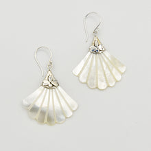 Load image into Gallery viewer, Mother of Pearl Sterling Silver Pierced Earrings
