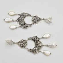 Load image into Gallery viewer, Mother of Pearl Sterling Silver Chandelier Earrings