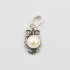 Owl Pendant - Fresh Water Pearl Sterling Silver Owl Pendant