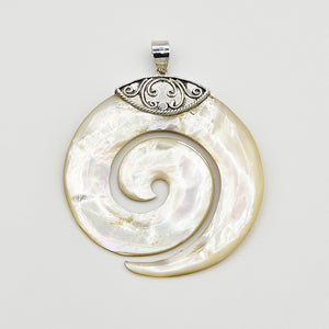 Mother of Pearl Sterling Silver Pendant