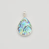 Mother of Pearl OR Abalone Double Sided Sterling Silver Pendant