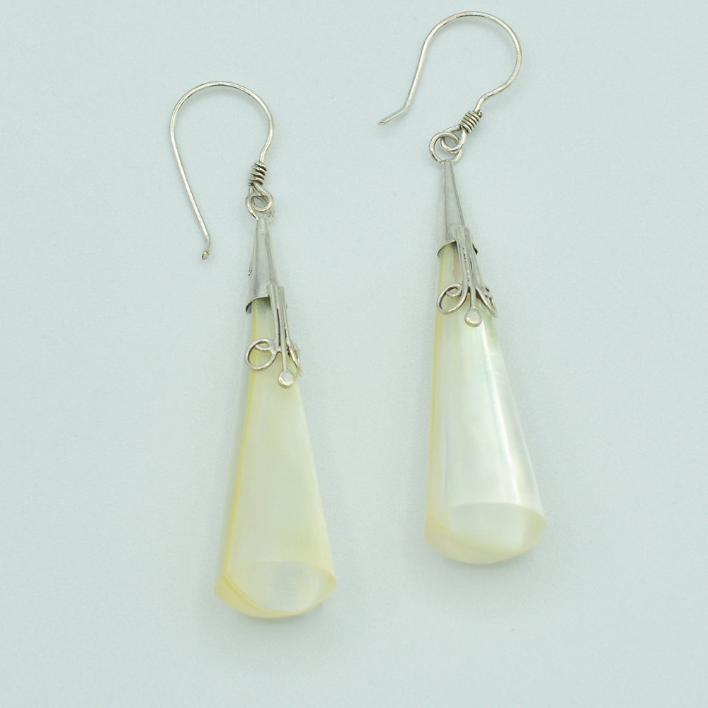 Mother of Pearl and Resin Earrings