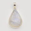 "Moonstone Teardrop Pendant 2"" Set in Silver one of a kind"
