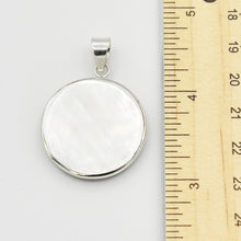 Load image into Gallery viewer, Double-sided Abalone, Red Coral and Mother of Pearl Round Pendant