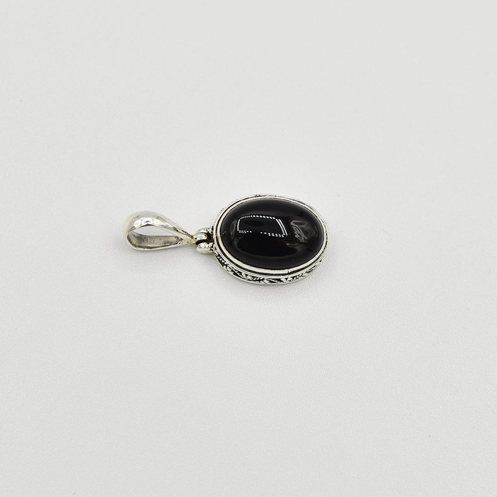 Onyx Sterling Silver Pendant