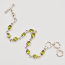 Load image into Gallery viewer, Genuine Peridot Semi-Precious Bracelet - toggle clasp