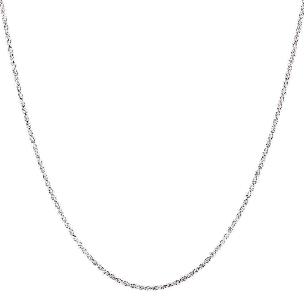 2MM Sterling Silver Rope Chain with Lobster Claw Clasp