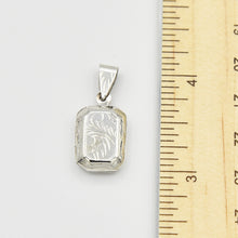 Load image into Gallery viewer, Sterling Silver Locket Pendant - Rectangle shape
