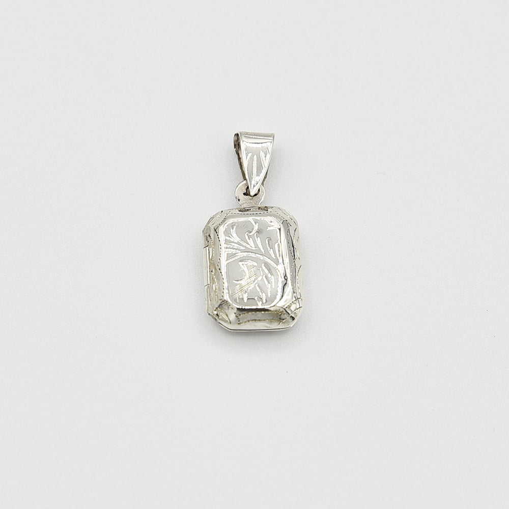 Sterling Silver Locket Pendant - Rectangle shape