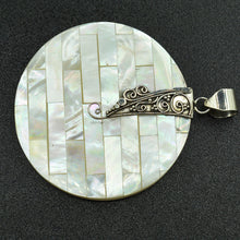 Load image into Gallery viewer, Mother of Pearl Sterling Silver Pendant