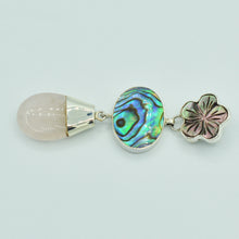 Load image into Gallery viewer, Abalone, Mother of Pearl and Rose Quartz Pendant